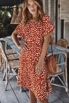 n/a Rust & Animals Spots Dress - Product List Image