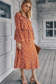 n/a Rust Spotted Midi - Side cropped