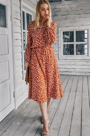 n/a Rust Spotted Midi - Back cropped