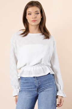 n/a White Peplum Blouse - Product List Image