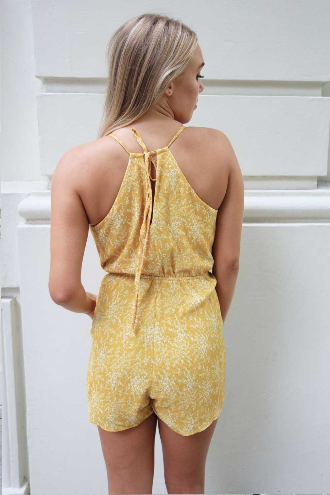 n/a Yellow Floral Playsuit - Side Cropped Image