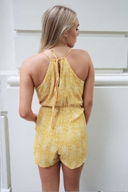 n/a Yellow Floral Playsuit - Side cropped