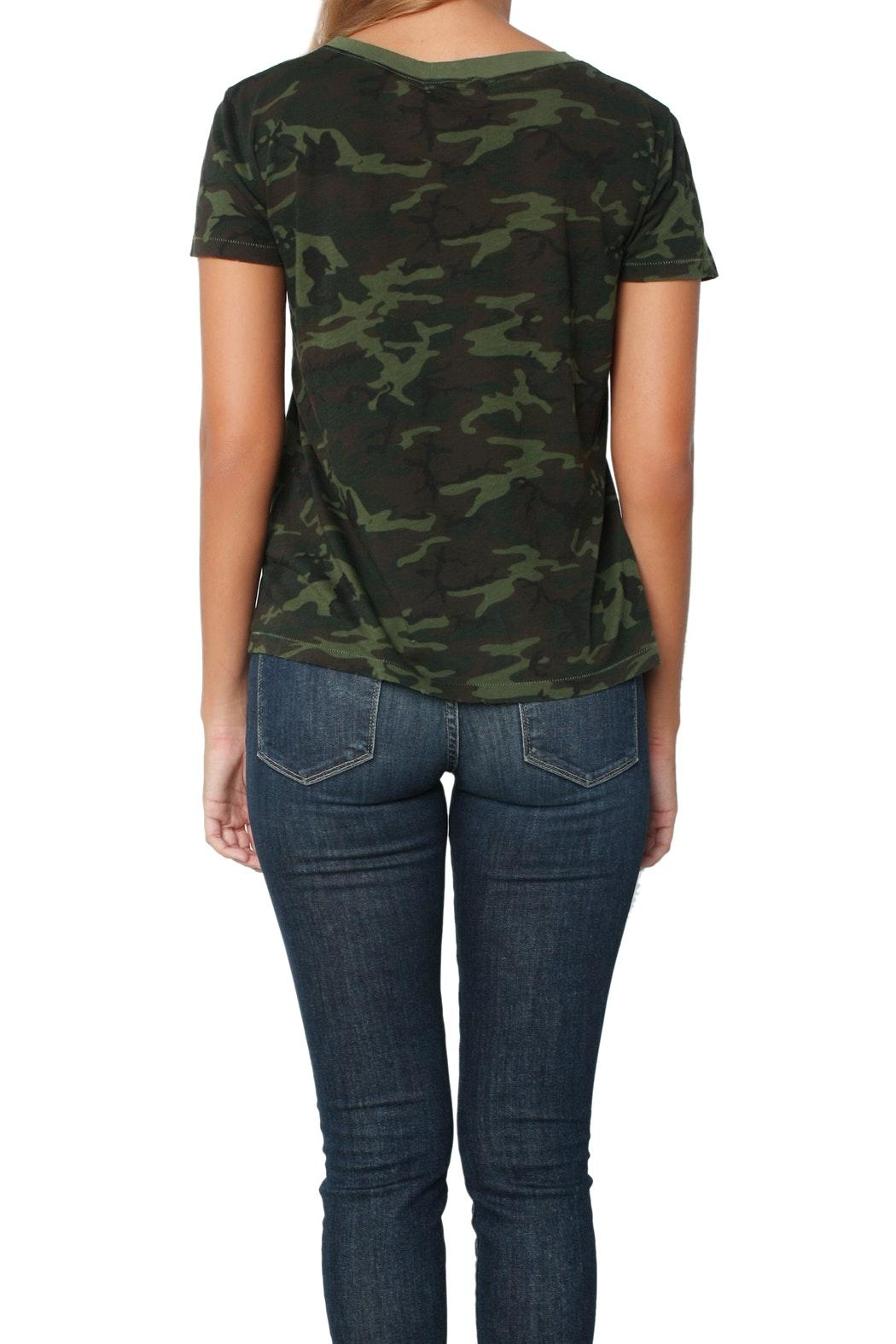 n:PHILANTHROPY Harlow Tee Camo Moss - Back Cropped Image