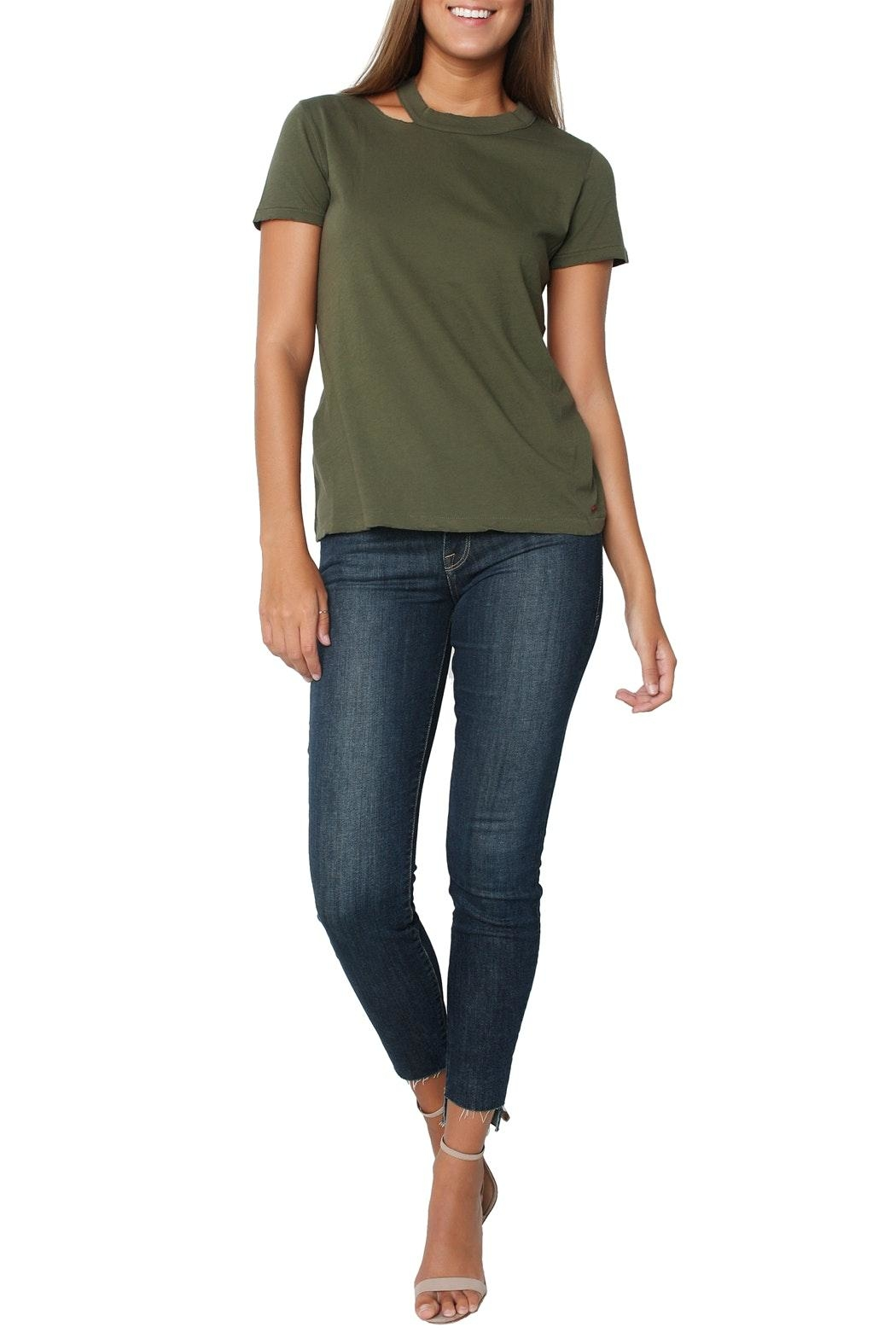 n:PHILANTHROPY Zander Tee Moss - Front Full Image