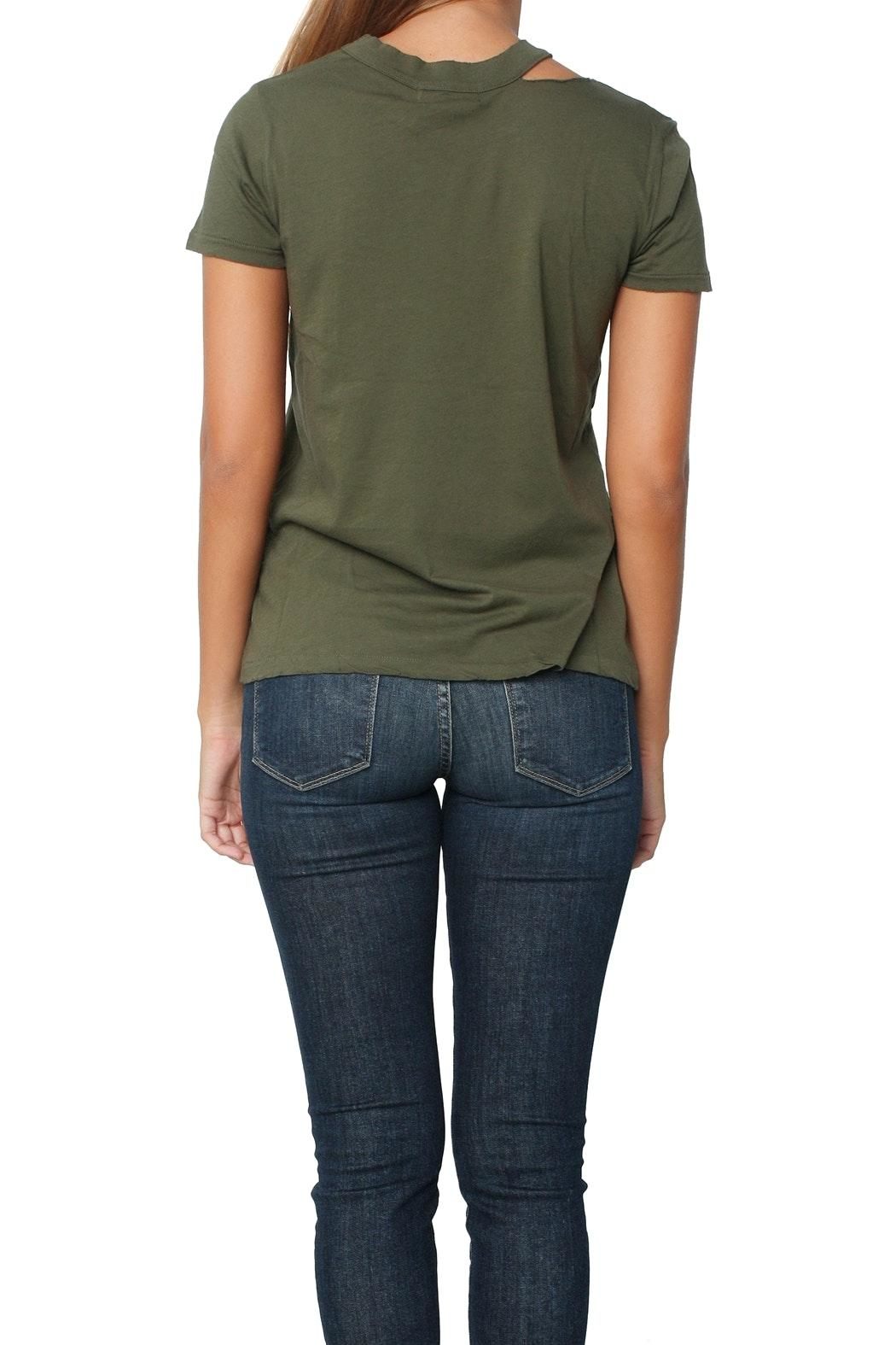 n:PHILANTHROPY Zander Tee Moss - Back Cropped Image