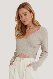 NA-KD Crossover Sweater - Front cropped