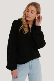 NA-KD Zip Up Sweater - Front cropped