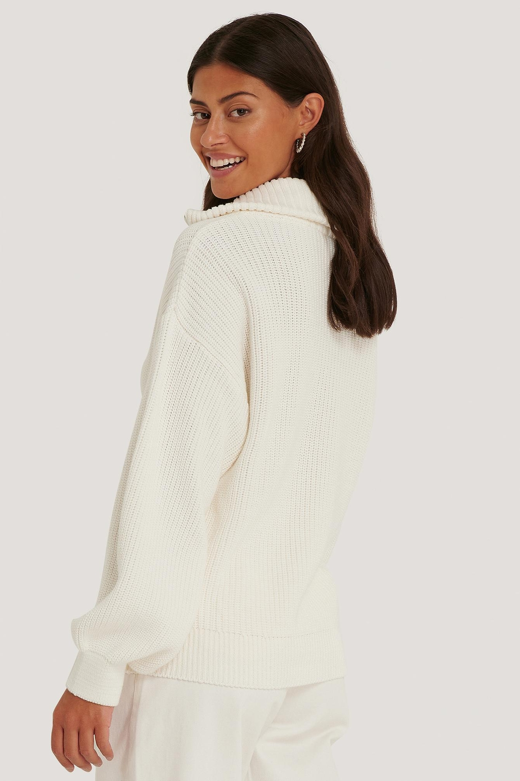 NA-KD Zip Up Sweater - Front Full Image