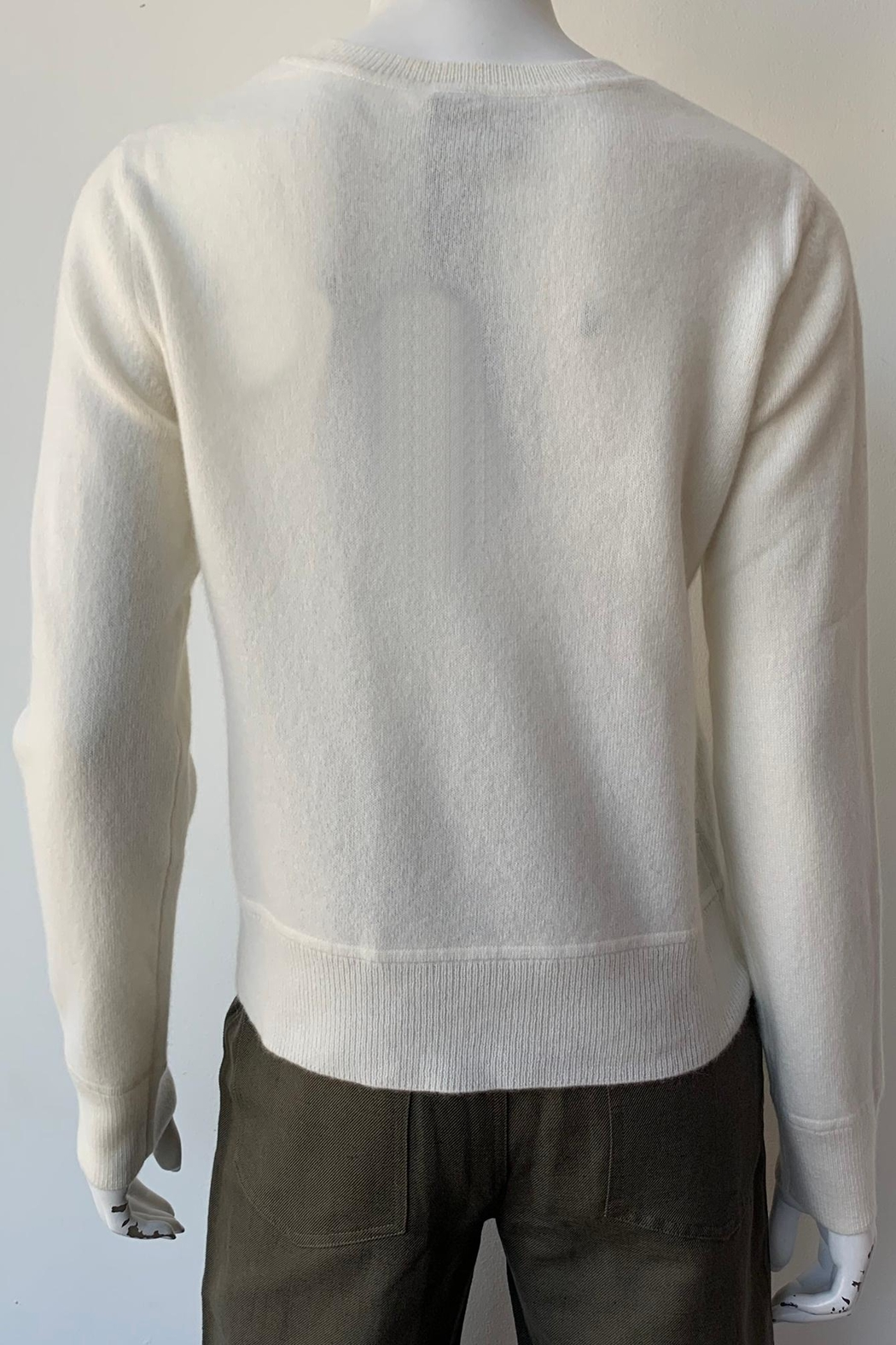 Naadam Cashmere Crewneck Sweater - Back Cropped Image