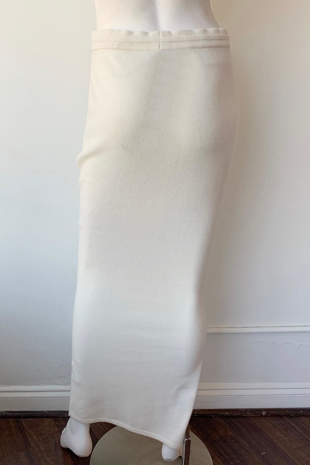 Naadam Long Cashmere Skirt - Back Cropped Image