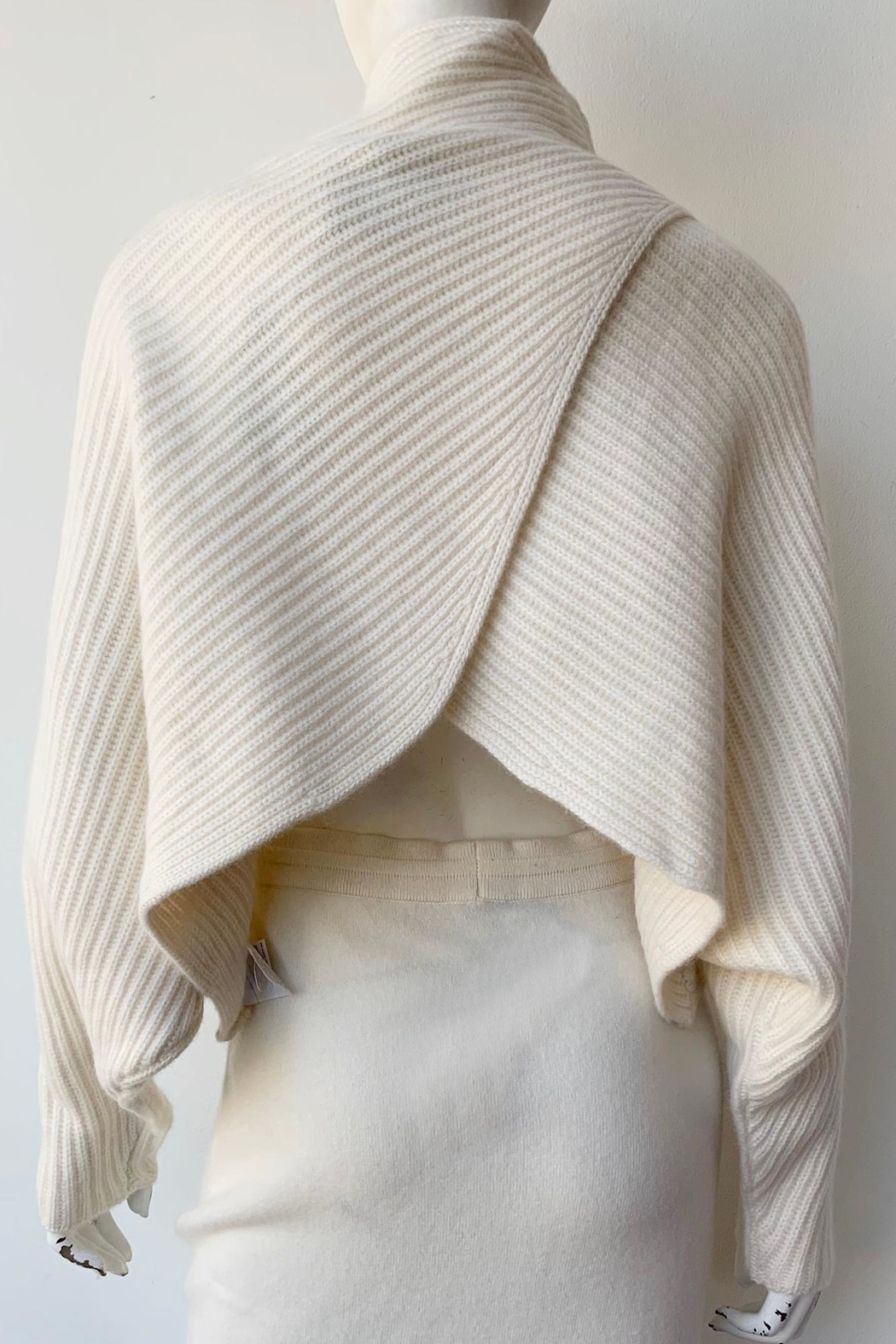 Naadam Open Back Cashmere Sweater - Back Cropped Image