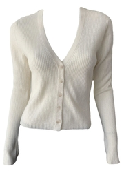 Naadam Ribbed Cardigan - Front cropped