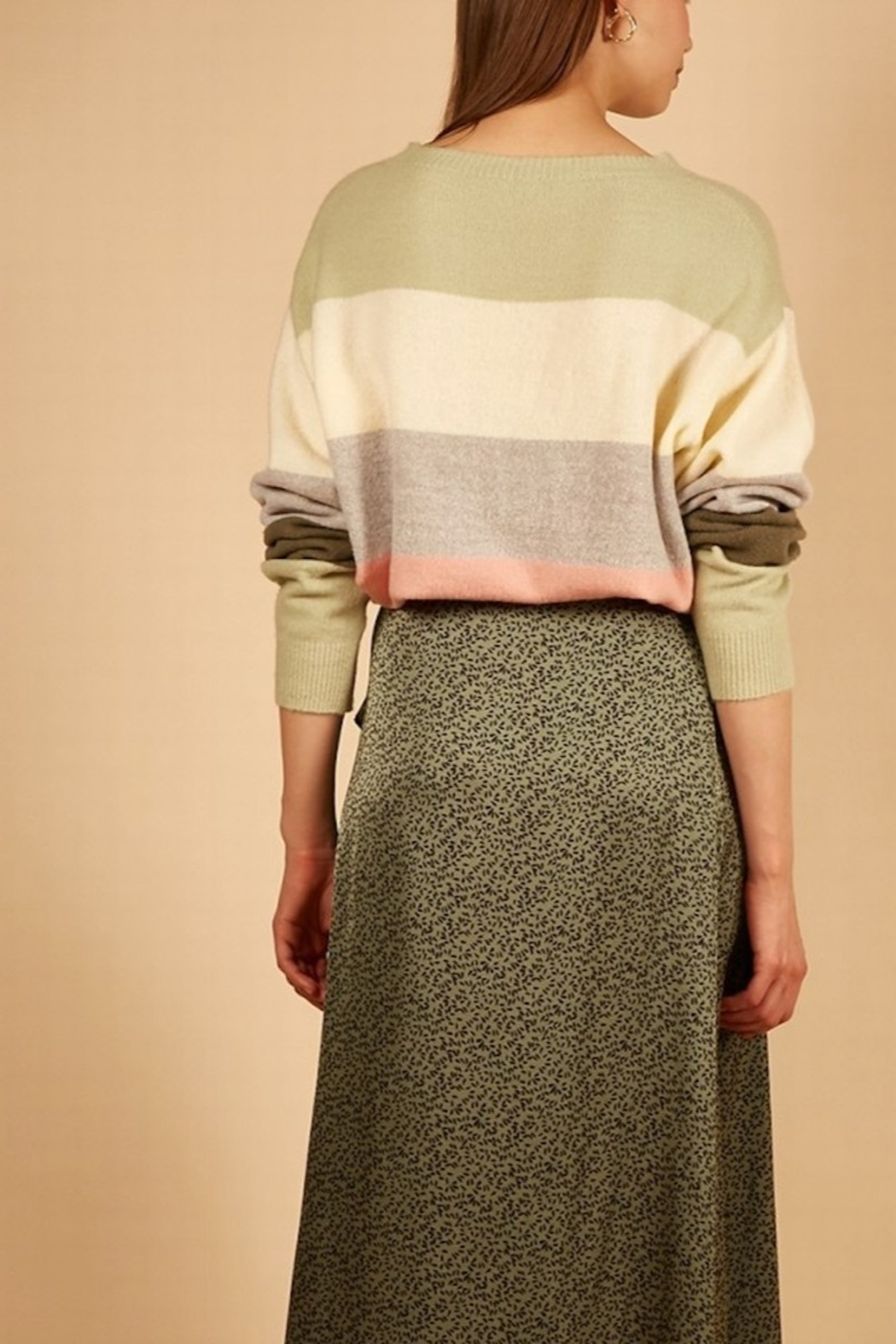 FRNCH Nabelle Wide-Stripe Sweater - Front Full Image