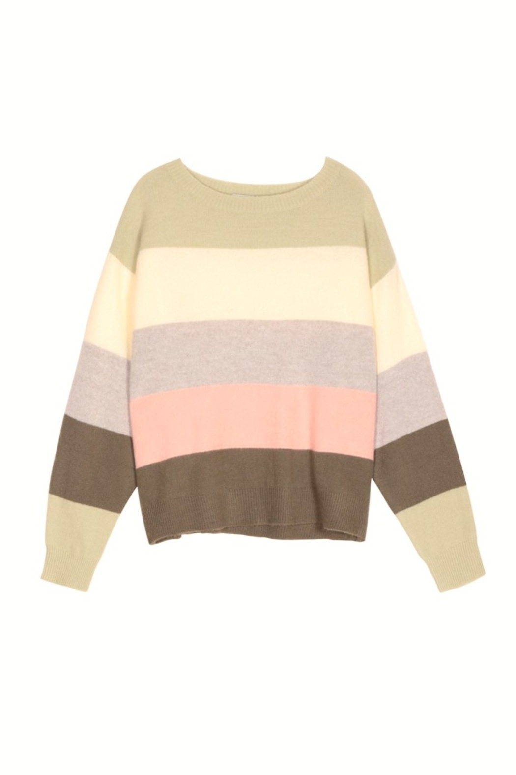 FRNCH Nabelle Wide-Stripe Sweater - Side Cropped Image