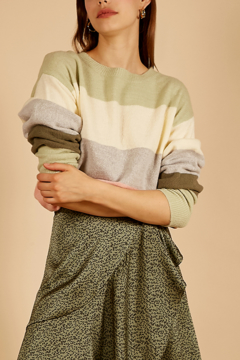 FRNCH Nabelle Wide-Stripe Sweater - Product List Image