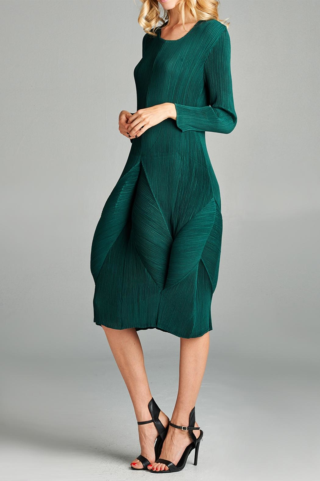 Nabisplace Blooming Pleated Dress - Side Cropped Image