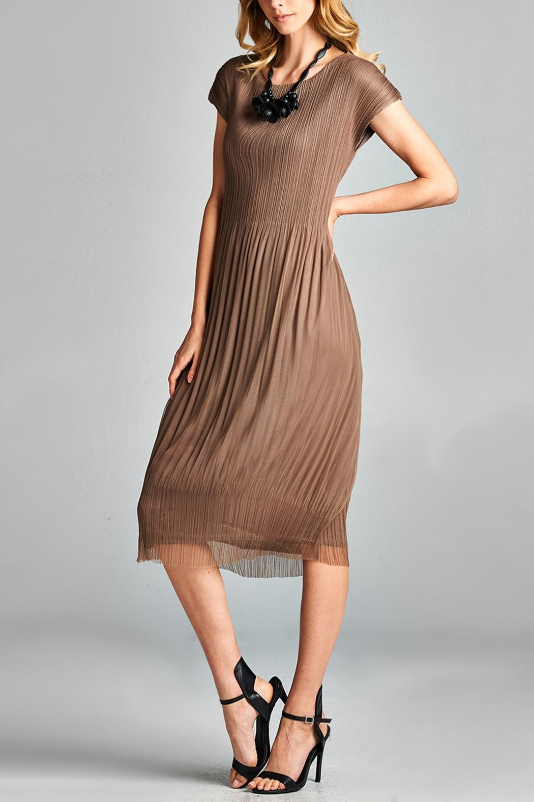 Nabisplace Cf Pleated Dress - Side Cropped Image