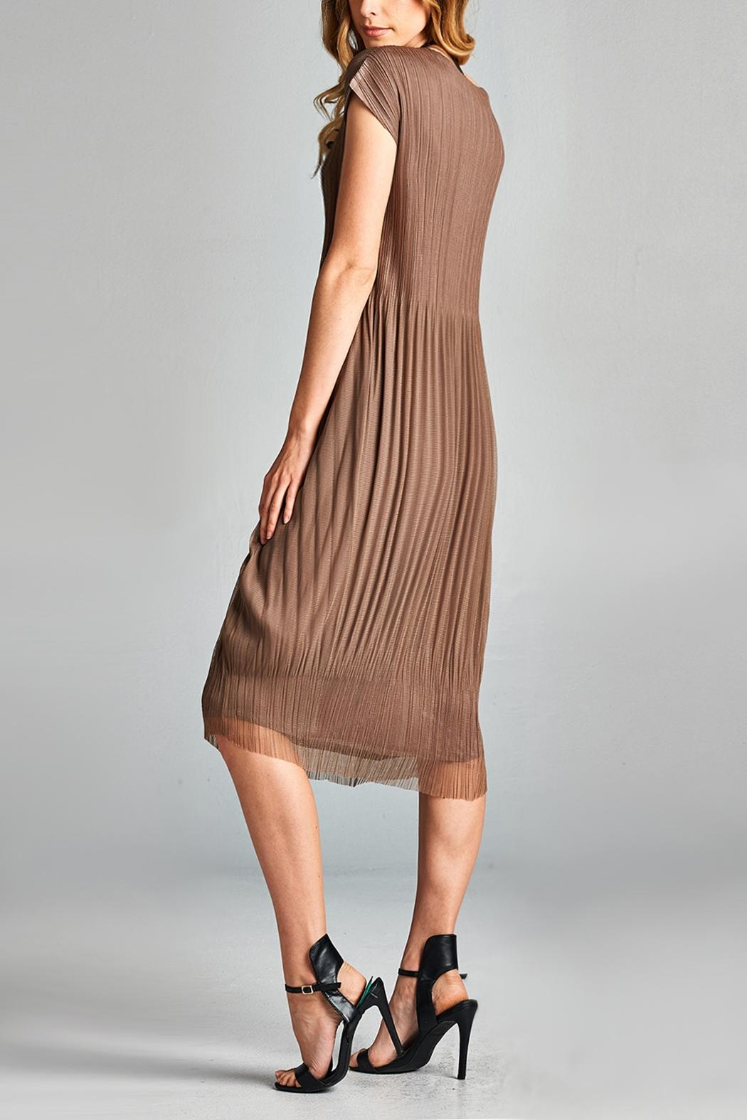 Nabisplace Cf Pleated Dress - Back Cropped Image