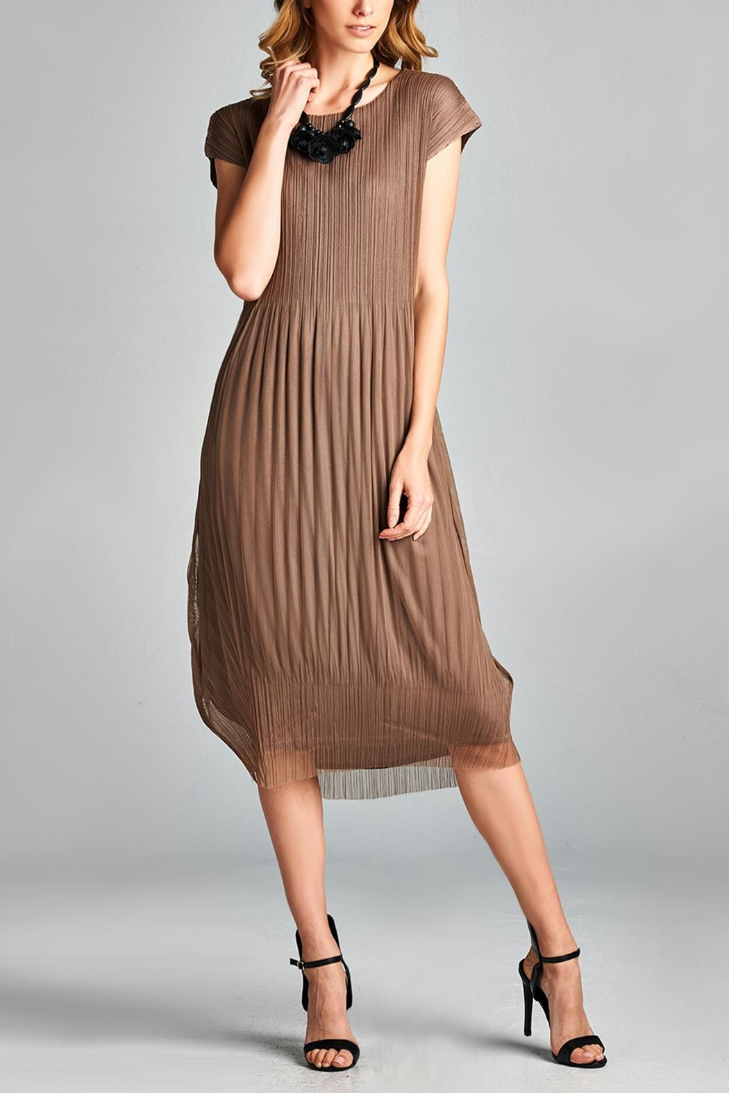 Nabisplace Cf Pleated Dress - Front Full Image
