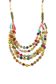 Anju Handcrafted Artisan Jewelry Nadi Layered Necklace - Front cropped
