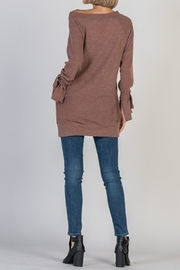 Nadia Boat Neck Tunic - Front full body