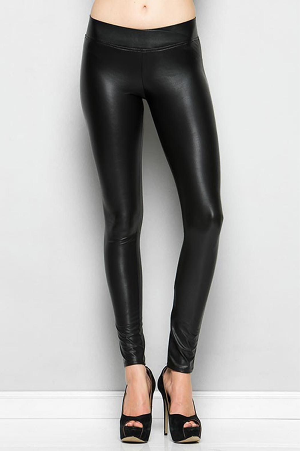 Nadia Faux Leather Leggings - Front Cropped Image