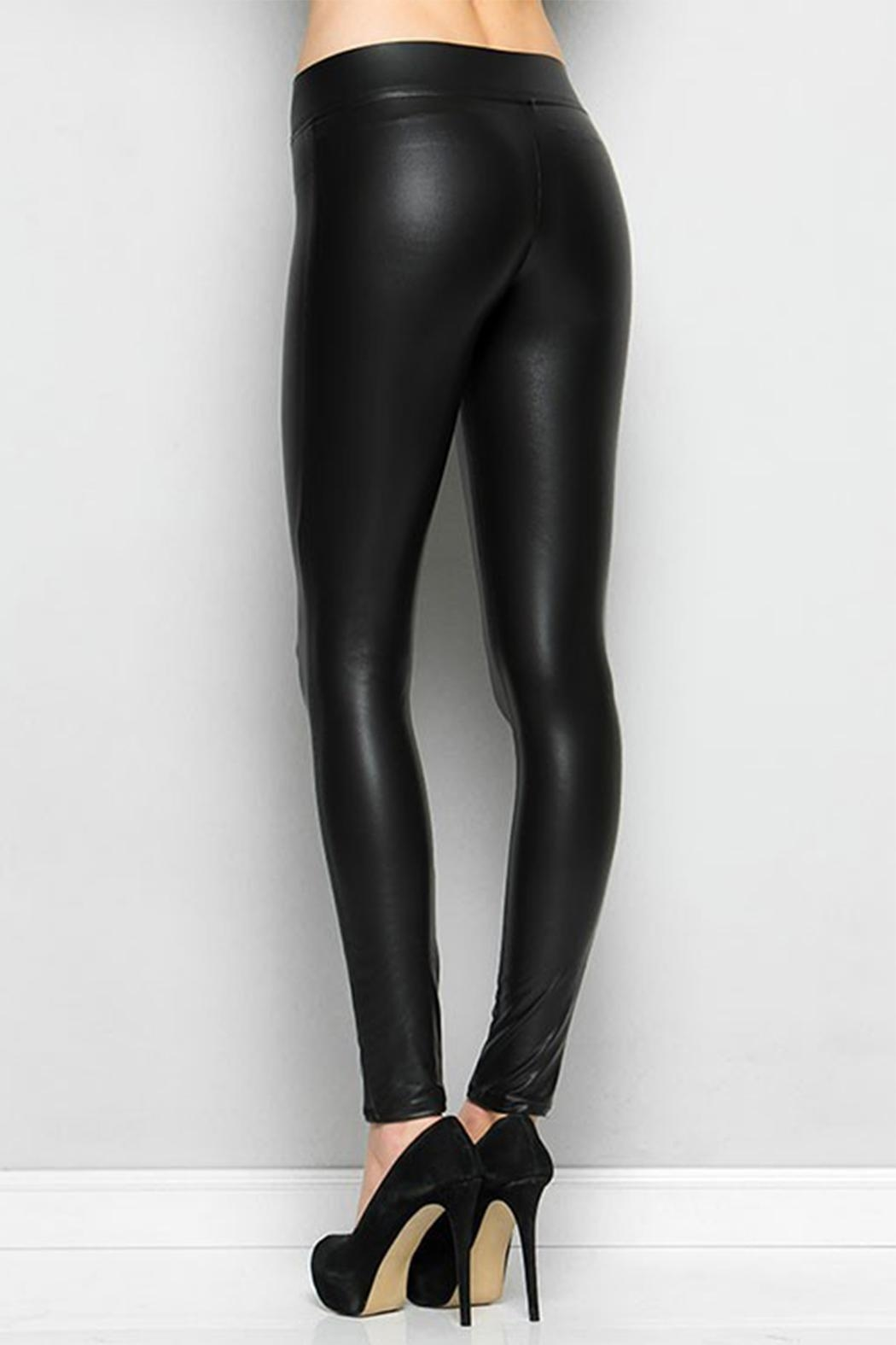 Nadia Faux Leather Leggings - Front Full Image