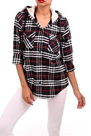 Nadia Plaid  Hooded Top - Product Mini Image