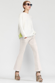 Cynthia Rowley Nadia Stretch Faux-suede Flared Pant - Front full body
