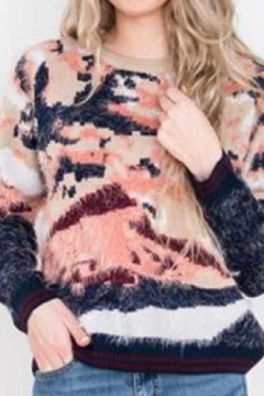 Shoptiques Product: Cozy Abstract Sweater
