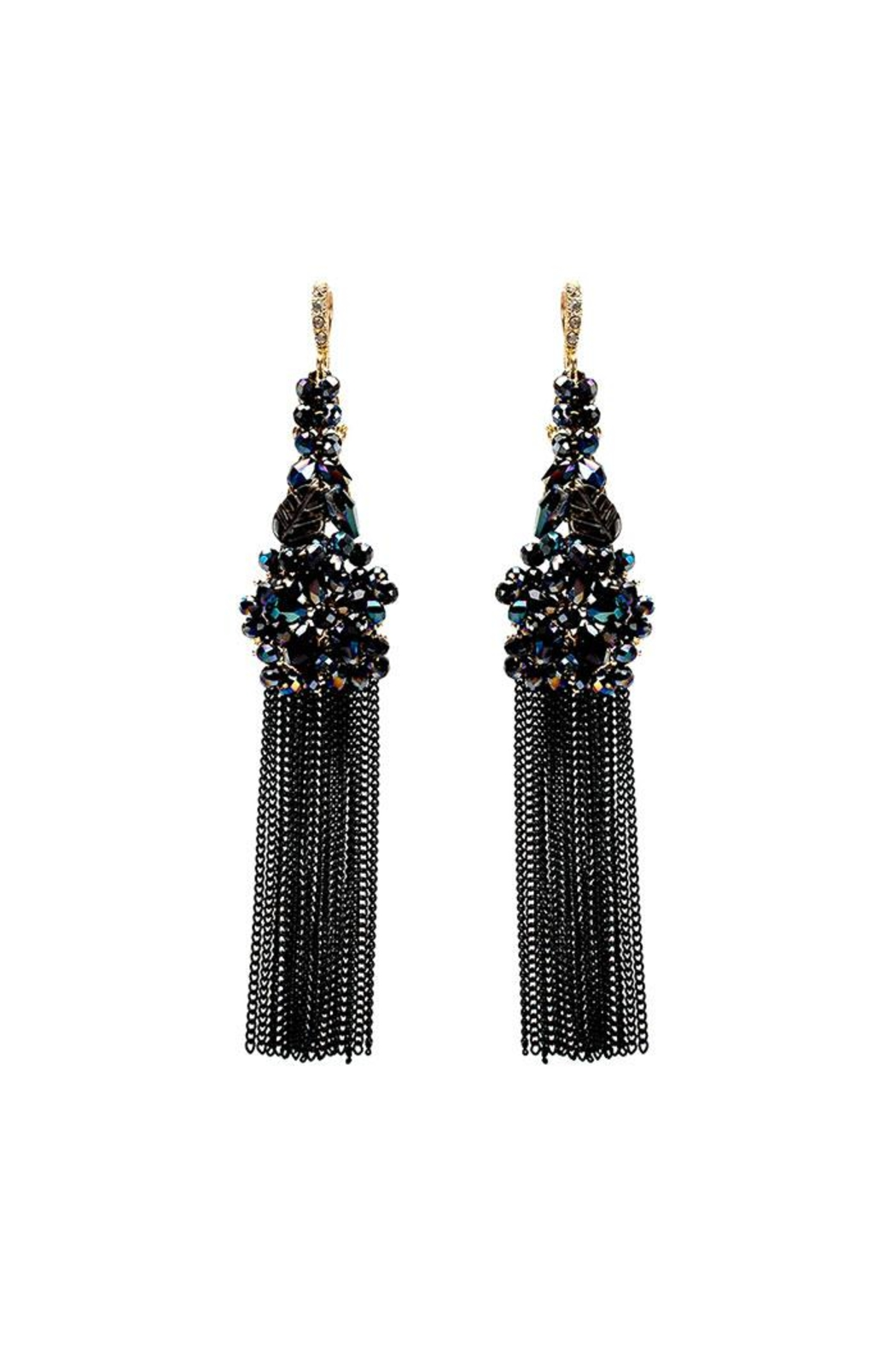 Nadya's Closet Beaded Cluster Earrings - Front Cropped Image