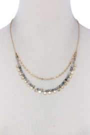 Nadya's Closet Beaded Layered Necklace - Front cropped