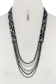 Nadya's Closet Beaded Necklace And Earring Set - Product Mini Image