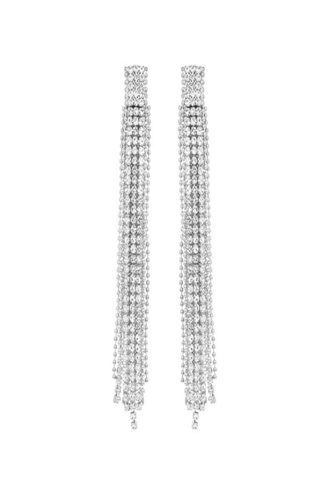 Nadya's Closet Beaded Rhinestone Earrings - Main Image