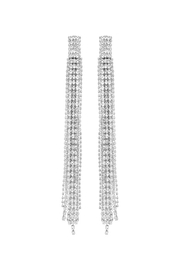 Nadya's Closet Beaded Rhinestone Earrings - Front cropped