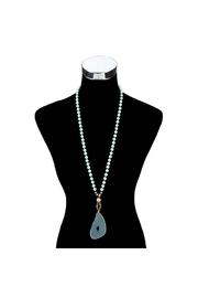 Nadya's Closet Beaded Stone Pendant Necklace - Product Mini Image