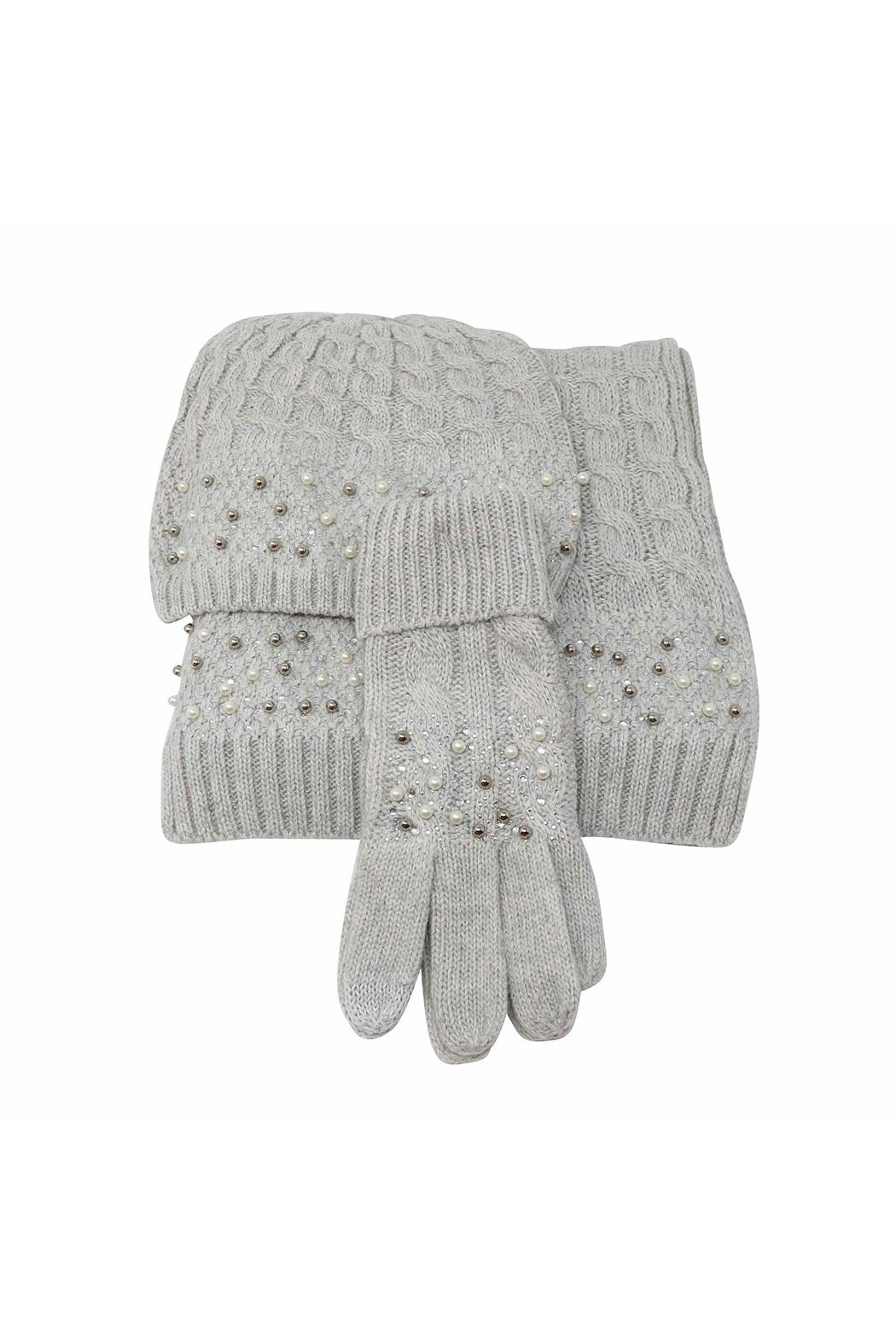 Nadya's Closet Beanie Gloves Scarf Set - Front Cropped Image