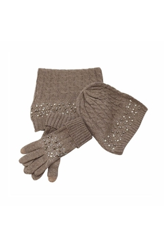 Shoptiques Product: Beanie Gloves Scarf Set
