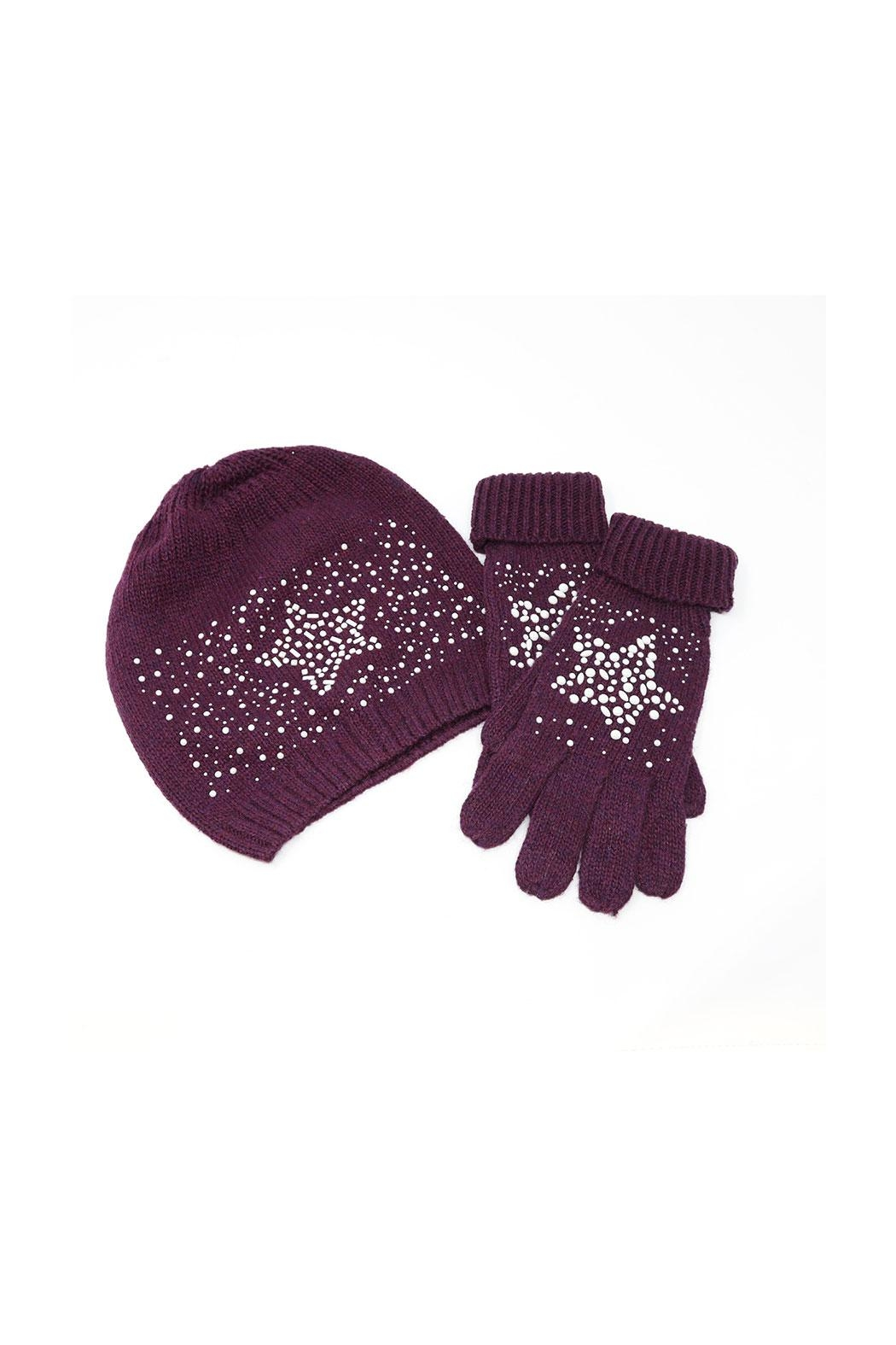 Nadya's Closet Beanie & Gloves Set - Front Cropped Image