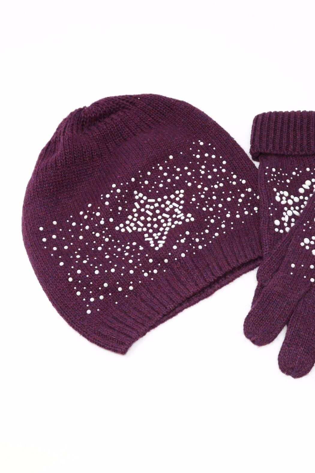 Nadya's Closet Beanie & Gloves Set - Back Cropped Image