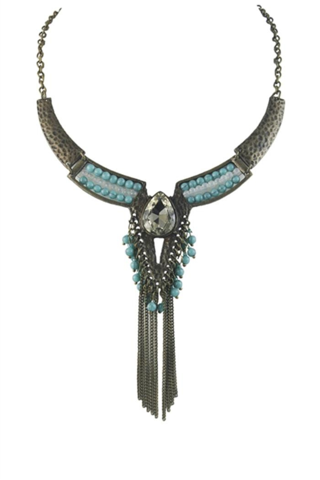 Nadya's Closet Bohemian Tassel Necklace - Front Cropped Image