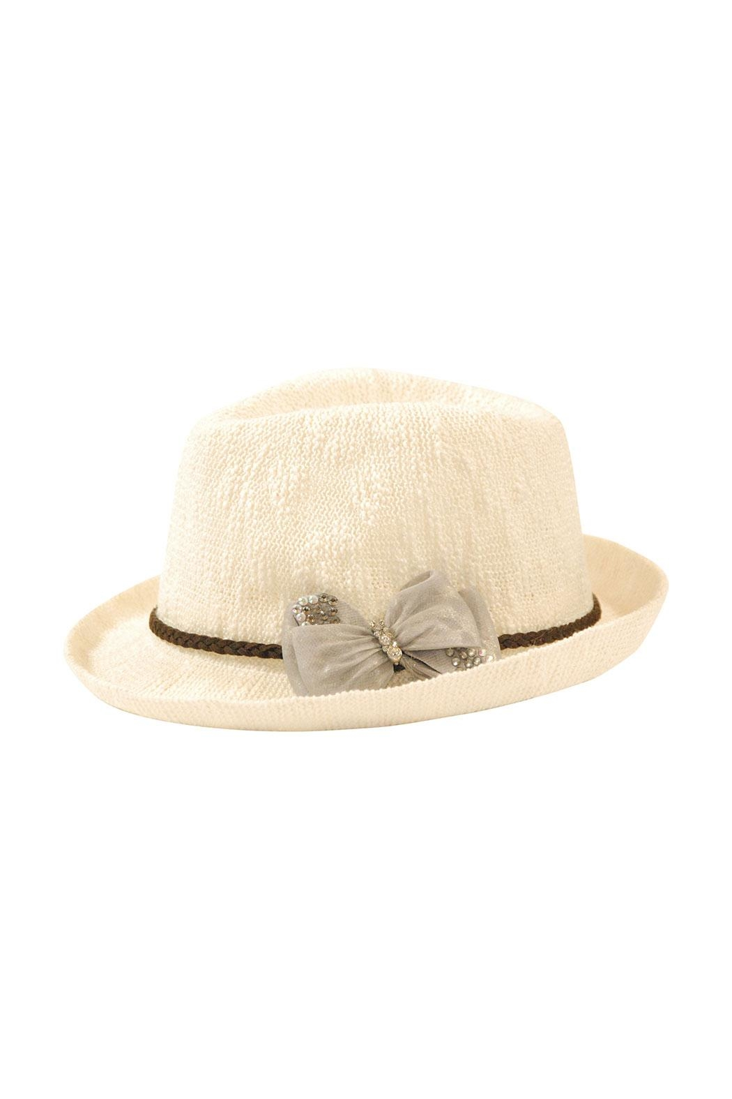Nadya's Closet Bow Accent Fedora - Front Cropped Image
