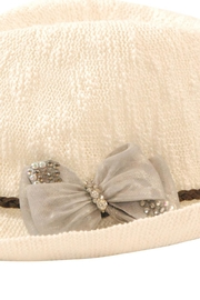 Nadya's Closet Bow Accent Fedora - Side cropped