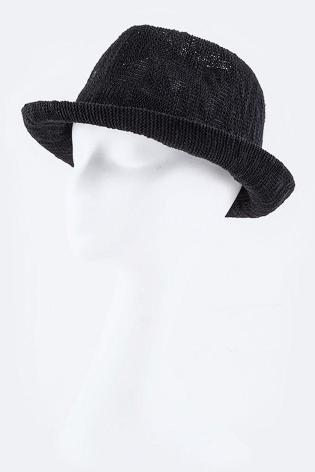 Nadya's Closet Braid Band Knitted-Fedora - Front Cropped Image