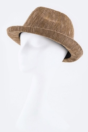 Nadya's Closet Braid Band Knitted-Fedora - Front cropped