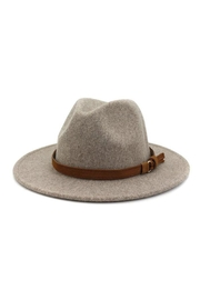 Nadya's Closet Brown Casual Belt Trendy Panama Hat - Front cropped
