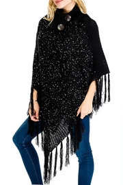 Nadya's Closet Buttons & Fringes Poncho - Front full body