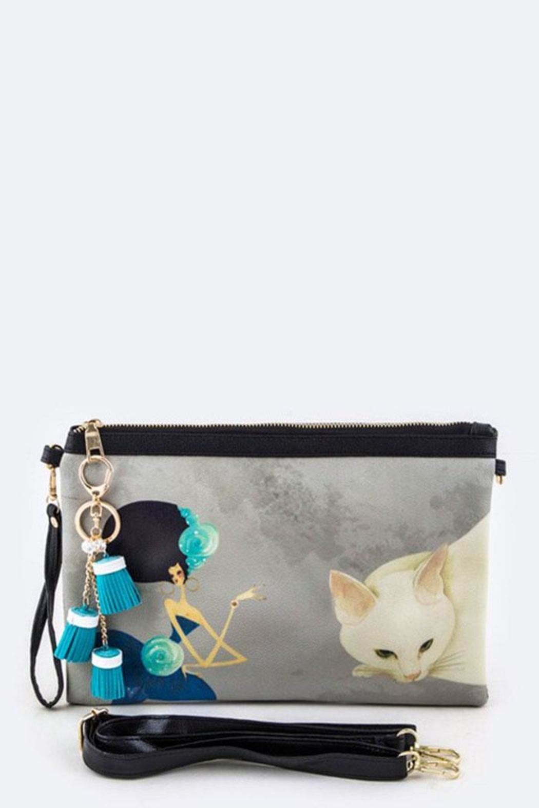 Nadya's Closet Cat & Lady Convertible-Clutch - Back Cropped Image