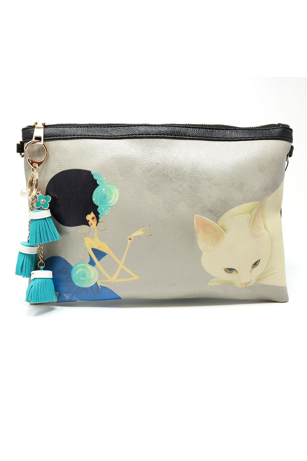 Nadya's Closet Cat & Lady Convertible-Clutch - Front Cropped Image