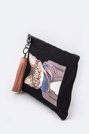 Nadya's Closet Cat Tasseled Pouch - Front cropped
